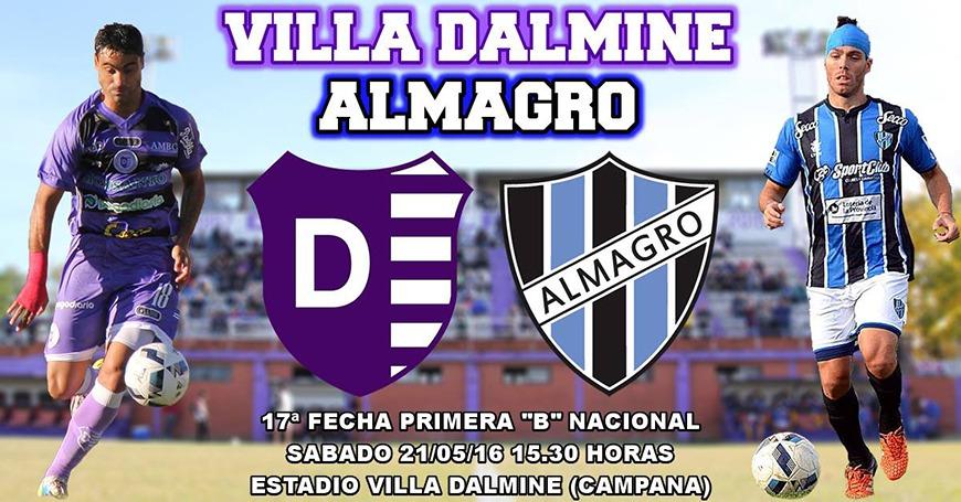 Villa Dalmine enfrenta a Almagro este Sbado desde las 15:30