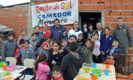 """La agrupación Julio A. Melo entregó ayuda al comedor """"Rayito de Sol"""""""