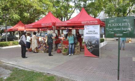 Este viernes la Plazoleta Belgrano recibe a los productores locales