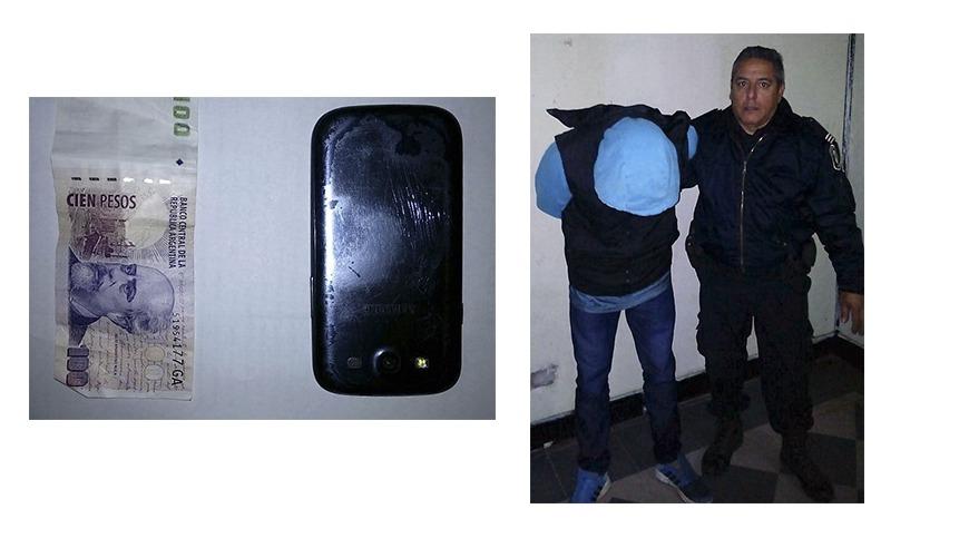 Aprehensión de sujeto que portaba cosas robadas