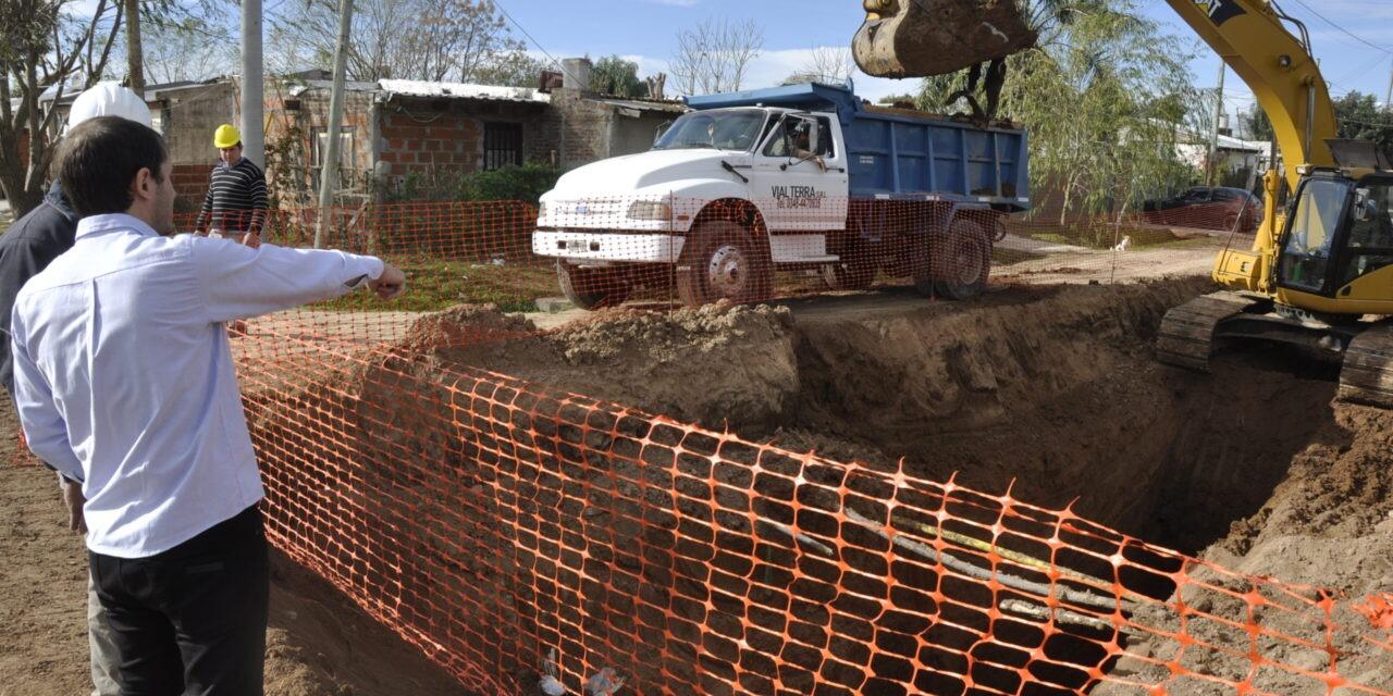 En pocos días se finalizarán las obras de reconstrucción de pluviales en el barrio Dignidad