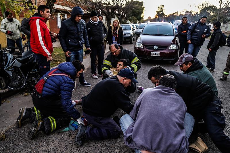 Accidente matutino en las calles Pueyrredon Y Lavalle.