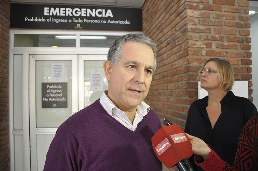 Meiraldi destacó el compromiso de los trabajadores y profesionales de la salud