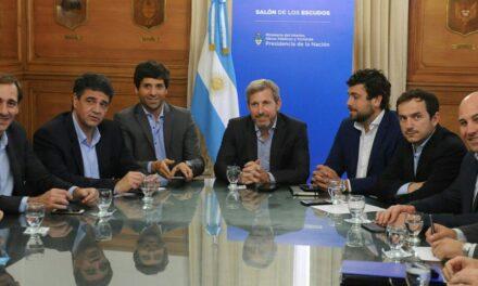 Abella se reunió con el ministro del Interior de Nación por obras públicas