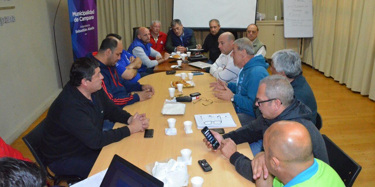 Autoridades de Defensa Civil de la Zona 8 se reunieron en Campana