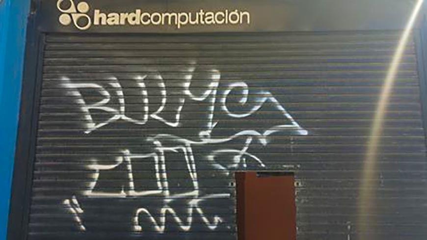 Actos de vandalismo contra varios locales de la Av. Mitre