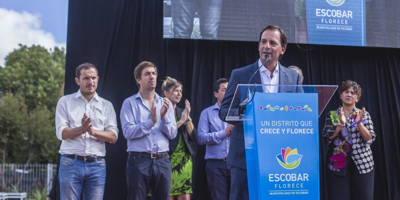 Abella participó de la inauguración del Hospital de Salud Mental y Adicciones de Escobar