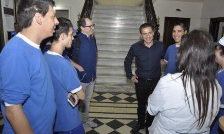 """Abella recibió a la fundación """"Abriendo Caminos"""" e IMENIC"""