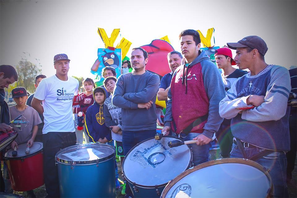 Abella participó de un festival organizado por vecinos de La Josefa