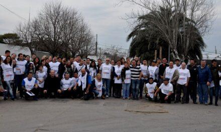 Sergio Roses visitó el comedor de la comunidad cristiana Eliaquim