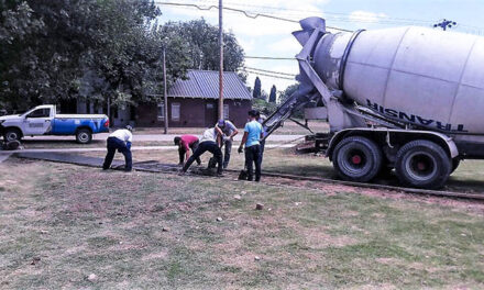Avanza la construcción de la nueva plaza de Las Campanas