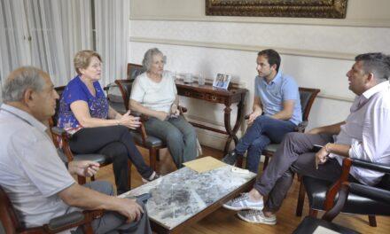 Abella se reunió con autoridades de la Casa de Día Padre Aníbal
