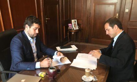 Abella firmó un importante convenio con Nación para el edificio de la nueva biblioteca