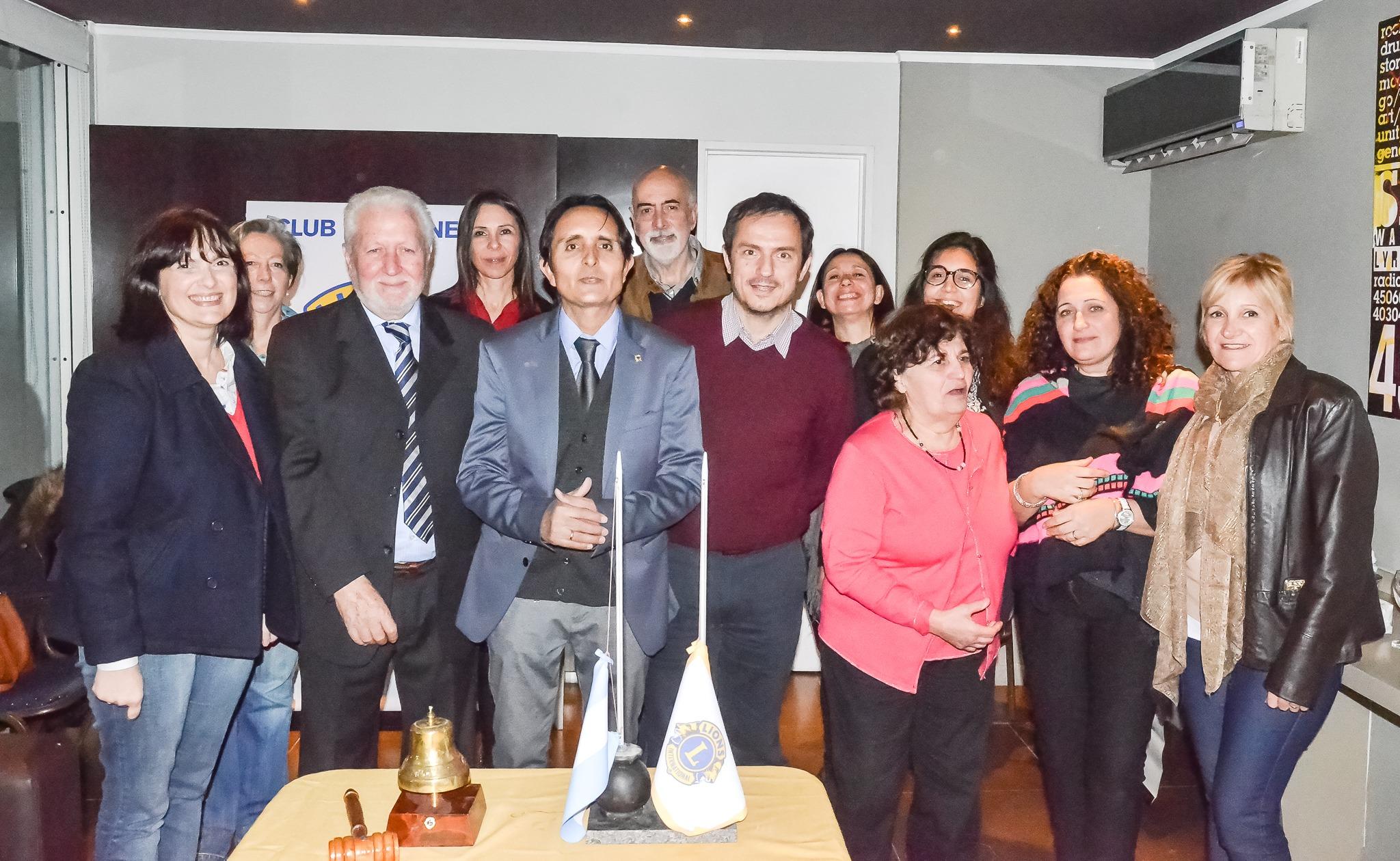 ASUNCION NUEVAS AUTORIDADES CLUB DE LEONES CAMPANA NORTE