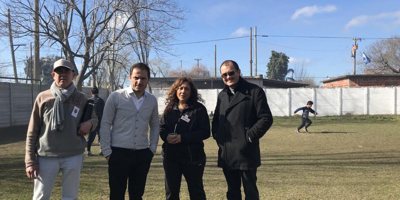 Abella visitó el Oratorio María Auxiliadora del barrio Lubo