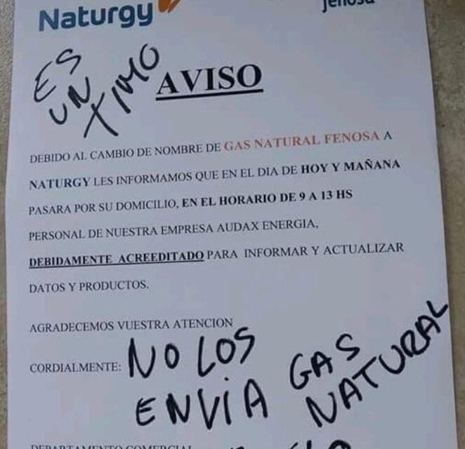 Advierten sobre la circulación de un falso aviso de Gas Natural Fenosa