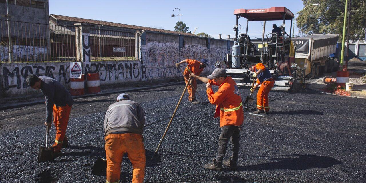 Avanza el reasfalto de la calle Alem y la importante obra hidráulica de 9 de julio
