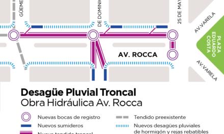 Avanza la construcción de nuevo desagüe pluvial en la avenida Rocca