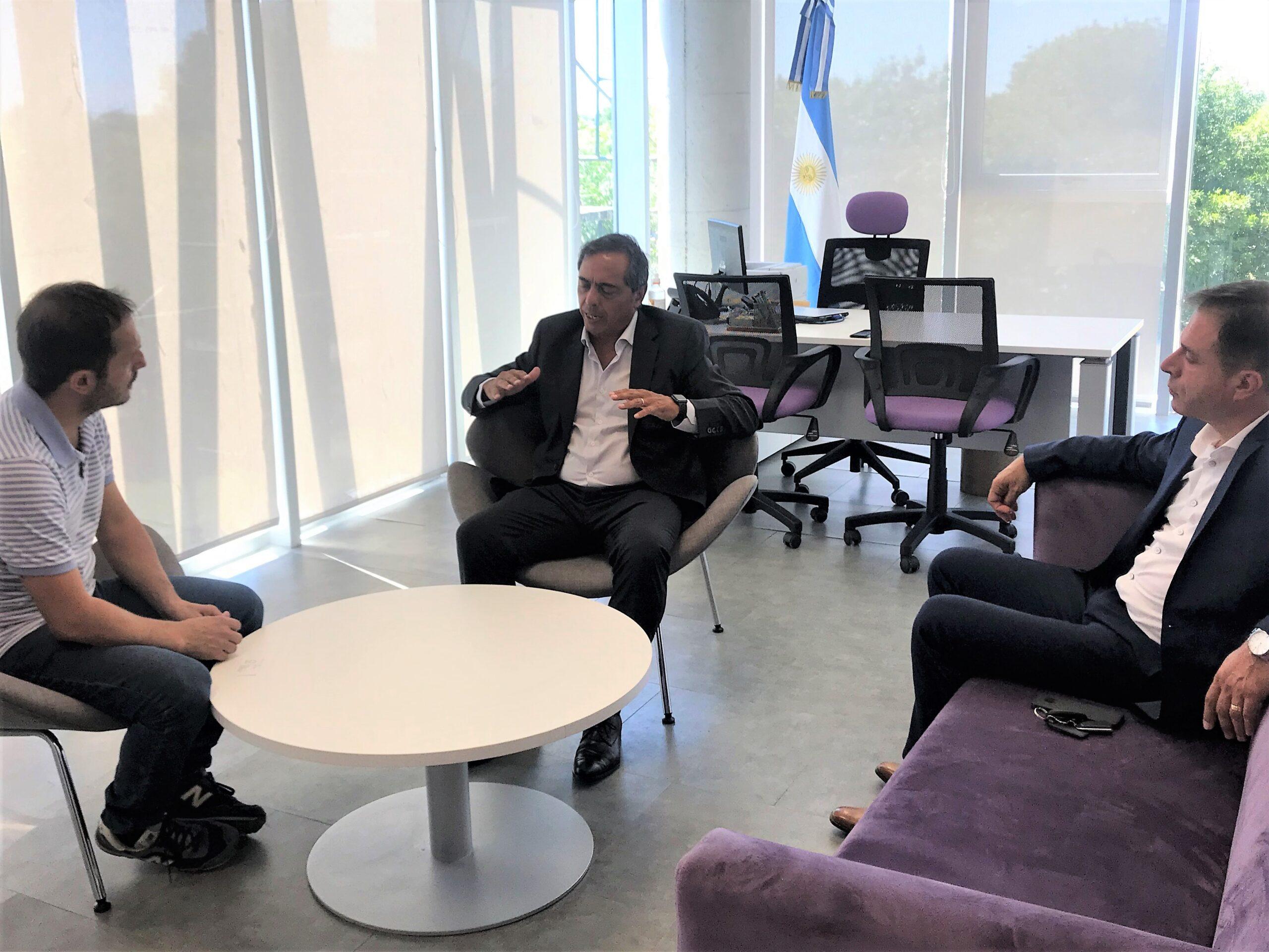 Abella se reunió con la nueva empresa concesionaria de Panamericana