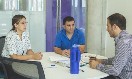 Abella se reunió con la comisión directiva de la sociedad de fomento Dallera-Romano