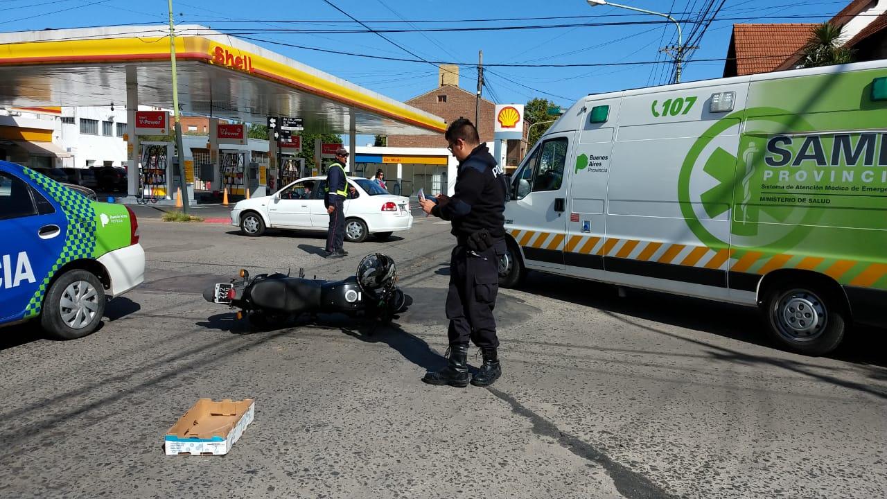 Accidente en Jean Jaures y Varela: un motociclista herido