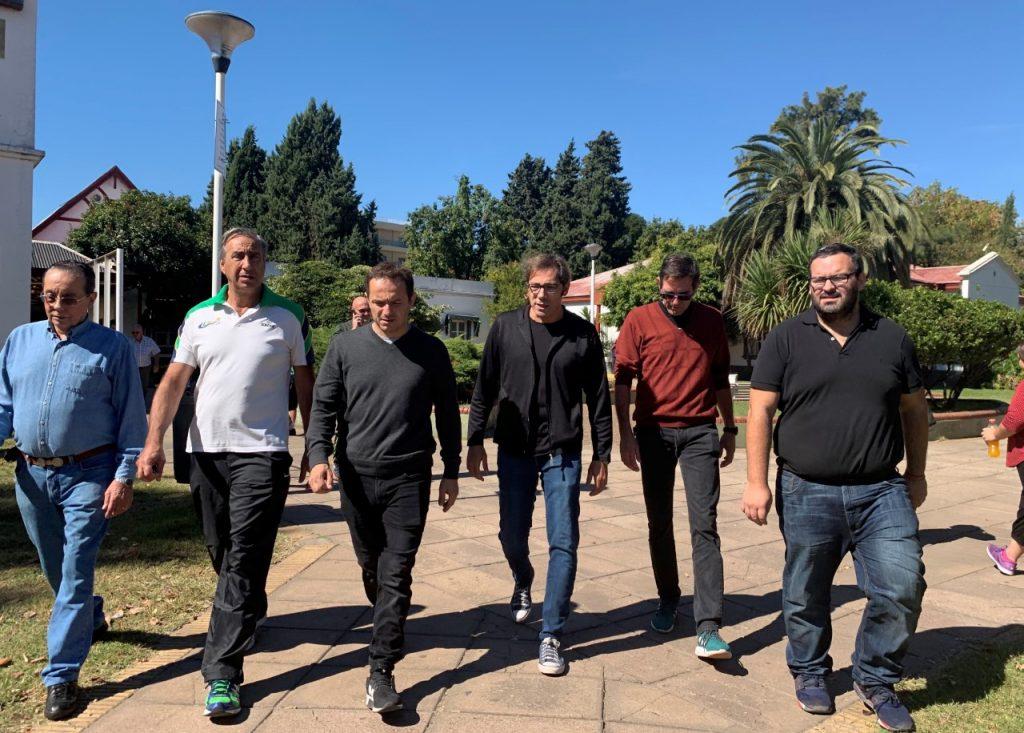 Abella se reunió con la nueva comisión directiva del Club Ciudad