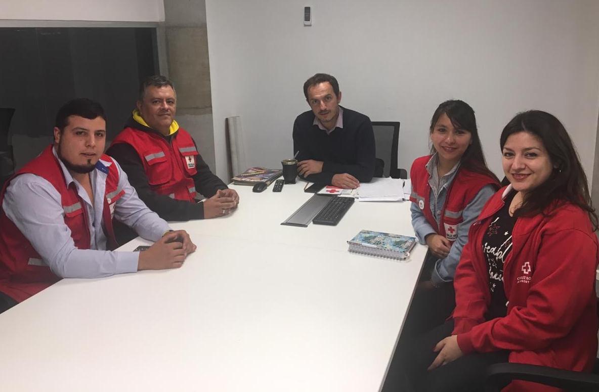 Abella se reunió con la nueva comisión directiva de la Cruz Roja Campana