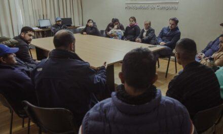 Abella se reunió con la Cooperativa Carrerros Unidos de Campana