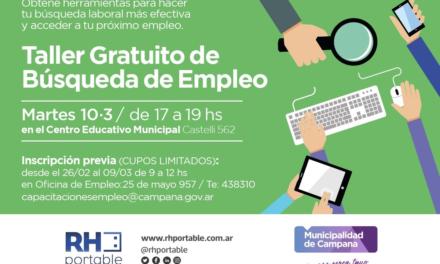 Abre la inscripción para el taller gratuito de búsqueda de empleo