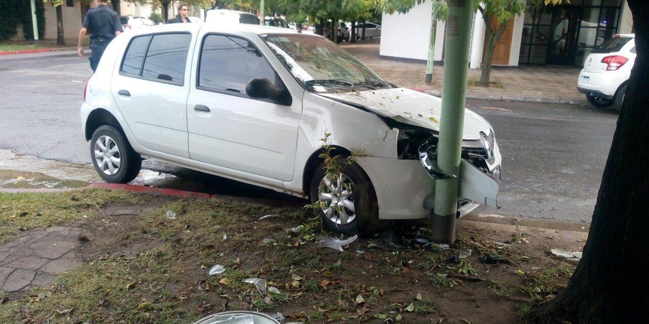 Accidente sin heridos en 9 de julio y Las Heras