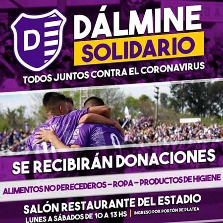 Dalmine solidario: El club continua recibiendo donaciones