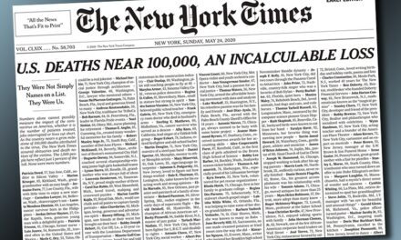 La tapa más dolorosa: el New York Times y los 100.000 muertos por coronavirus