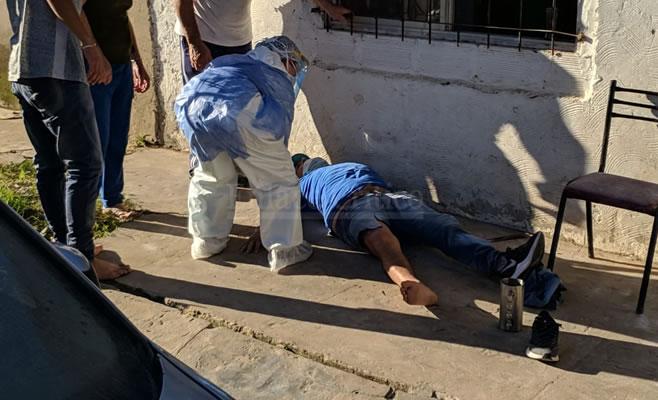 Zarate: Se desmoronó una pared y hubo dos heridos: intervino la ambulancia del Hospital Municipal