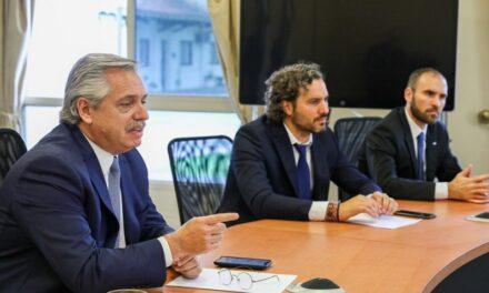 Alberto Fernández se reunió en Olivos con parte de su gabinete para analizar cómo sigue la cuarentena y la negociación de la deuda