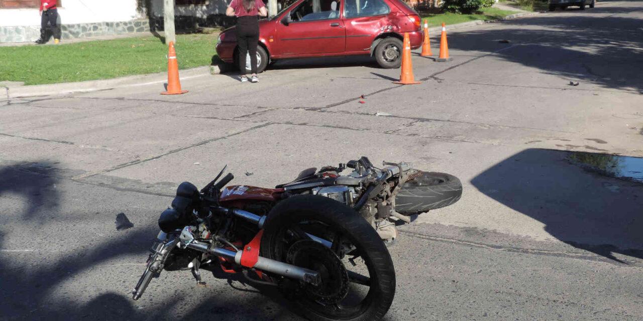 Accidente en el barrio Urquiza