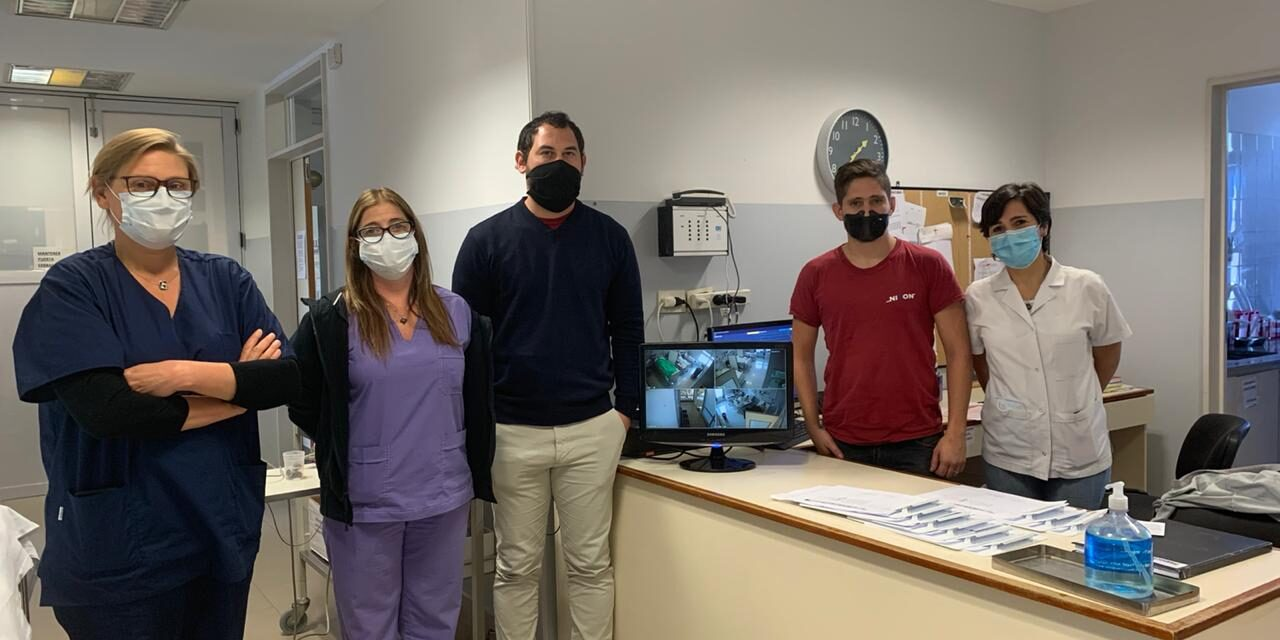 Instalan un sistema de monitoreo en la sala de COVID-19 del hospital municipal