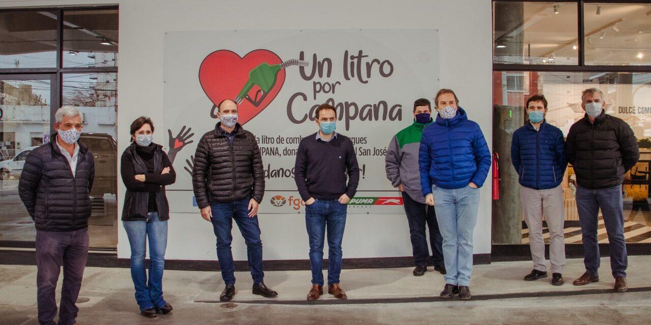 """El Intendente acompañó el inicio de la campaña """"Un litro por Campana"""""""
