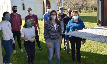 Elisa Abella acompañó el trabajo de la la Casa de Día Padre Aníbal