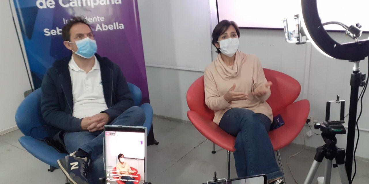 Abella respondió preguntas de vecinos por las redes sociales