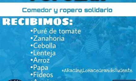 #SumateADonar Nueva campaña solidaria de la filial Racing Campana