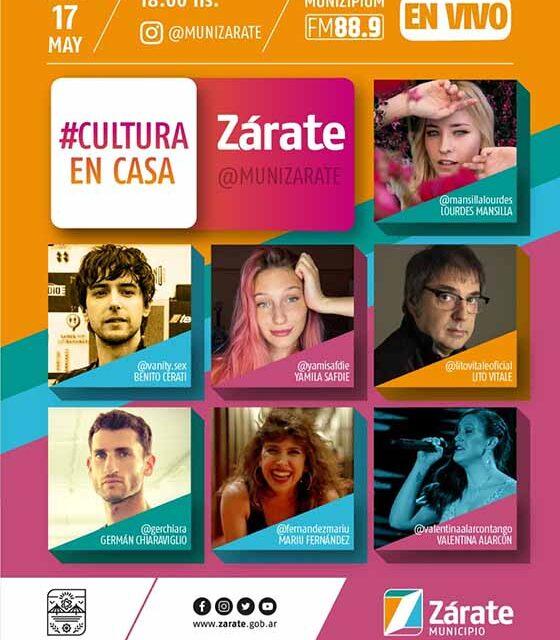 Zarate: Este domingo se presenta la Quinta Edición de #CulturaEnCasa
