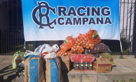 ACTO SOLIDARIO DE LA FILIAL RACING CAMPANA