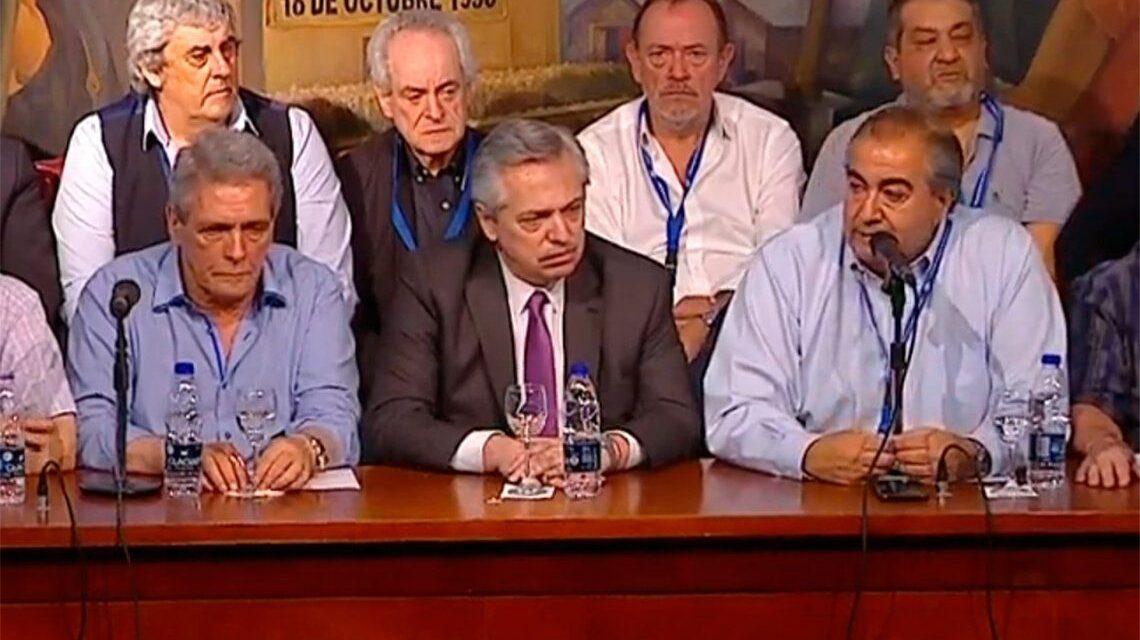 """La CGT salió en auxilio del Gobierno y descalificó a """"los grupos variopintos que hablan de infectadura"""""""