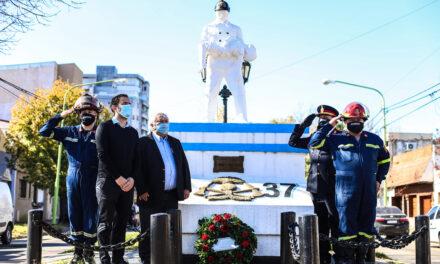 El cuartel de Bomberos Voluntarios conmemoró su día con un sencillo pero emotivo homenaje