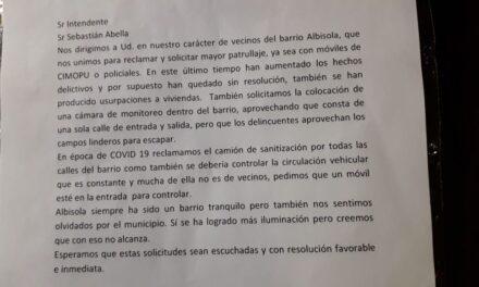 Vecinos del barrio albizola reclaman por el estado del barrio
