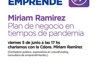 """Mañana continúa el ciclo de charlas virtuales """"Campana emprende"""""""
