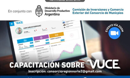 Región Norte 2 invita a una capacitación sobre Ventanilla Única de Comercio Exterior
