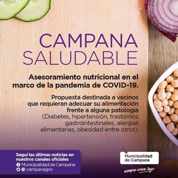 """El programa """"Campana saludable"""" sigue brindando asesoramiento nutricional gratuito"""
