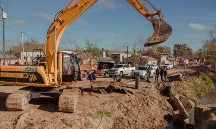San Cayetano: importantes trabajos para mejorar el funcionamiento de las bombas