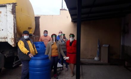 El Municipio entregó lavandina a sociedades de fomento para que se distribuya a los vecinos